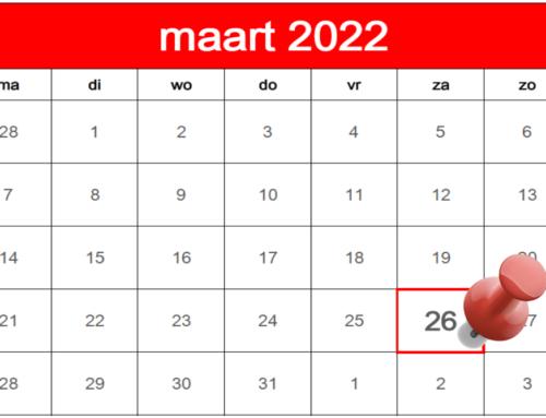 Surventobrass gaat naar 26 maart 2022